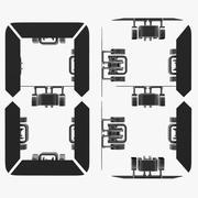 Digitalnummer (animering av kontroller) 3d model