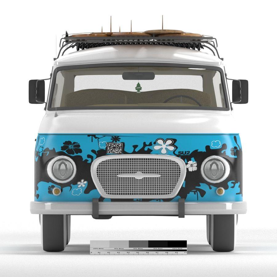 Barkas B1000 royalty-free 3d model - Preview no. 3