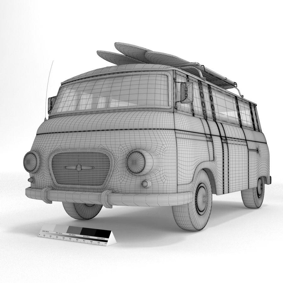 Barkas B1000 royalty-free 3d model - Preview no. 9