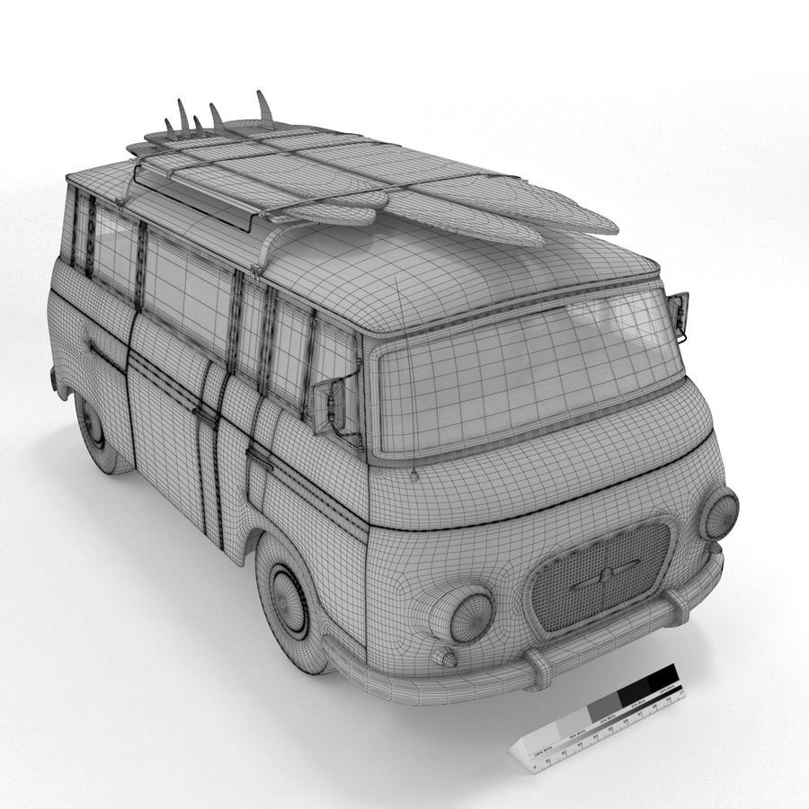 Barkas B1000 royalty-free 3d model - Preview no. 11