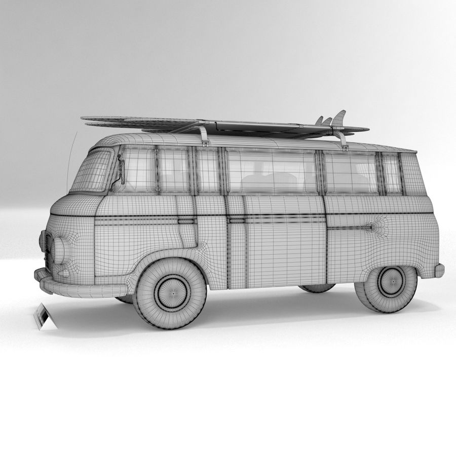 Barkas B1000 royalty-free 3d model - Preview no. 10