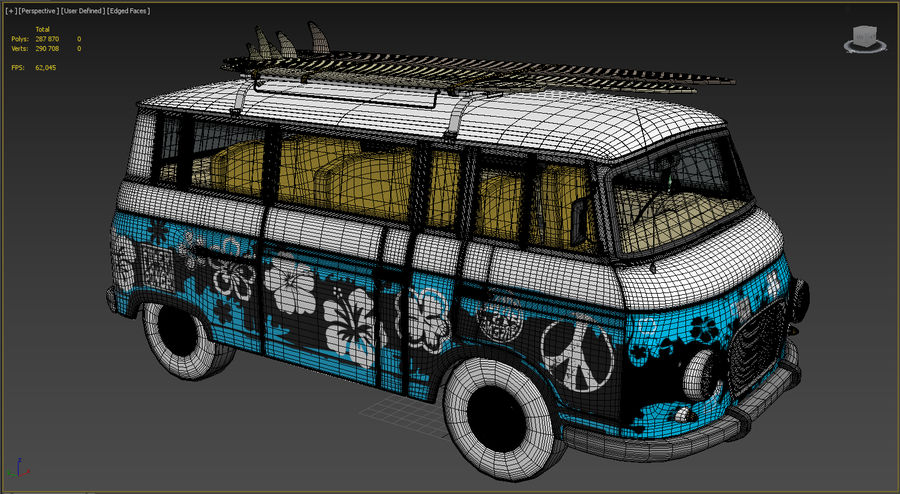 Barkas B1000 royalty-free 3d model - Preview no. 12