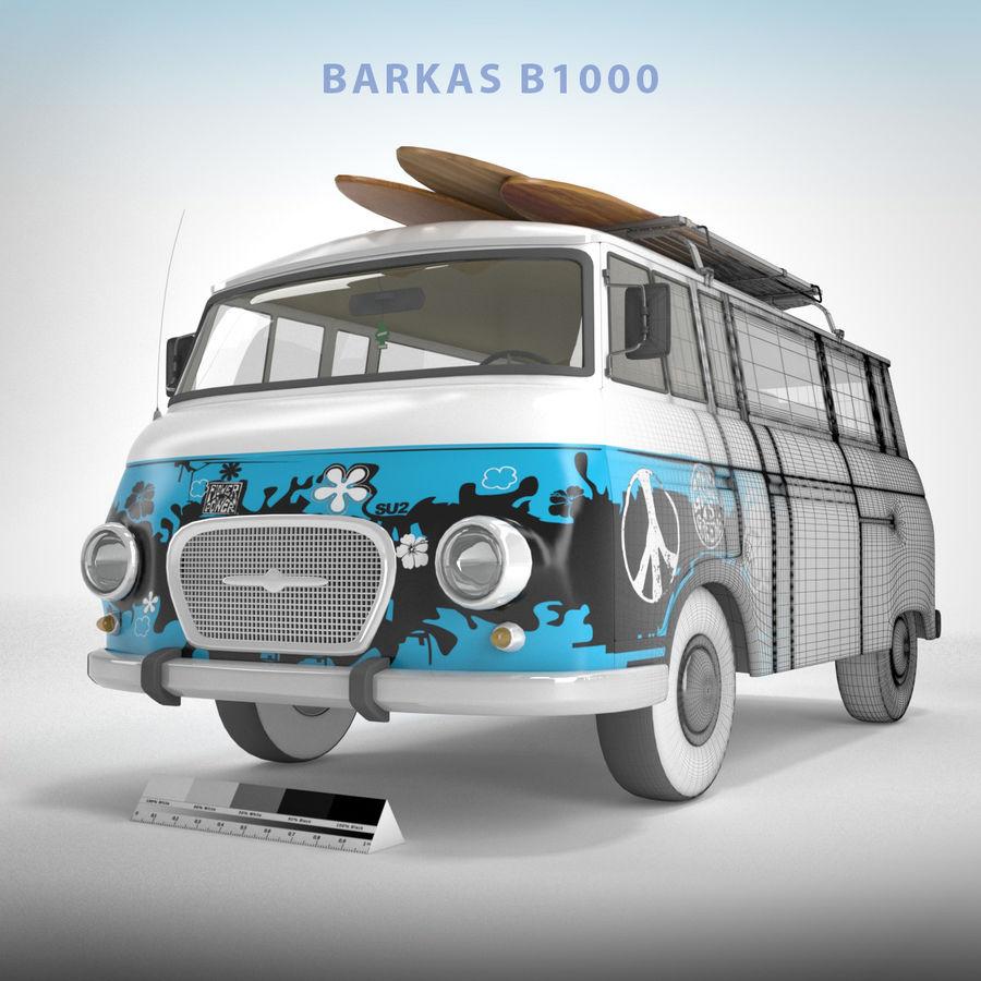 Barkas B1000 royalty-free 3d model - Preview no. 1