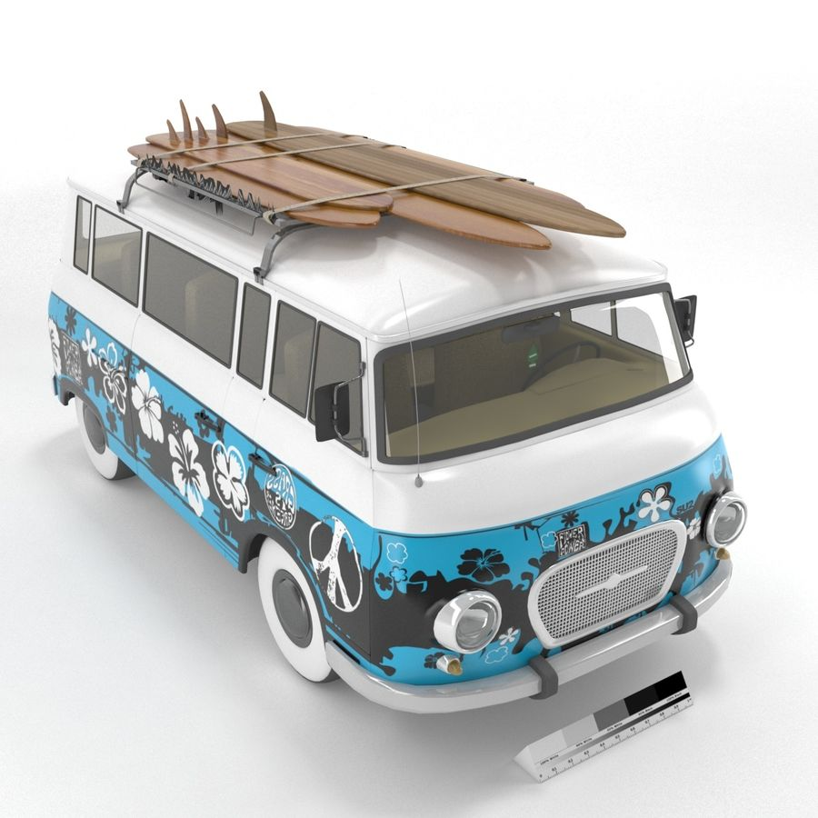 Barkas B1000 royalty-free 3d model - Preview no. 6