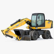 Excavadora de ruedas JBC 160 modelo 3d