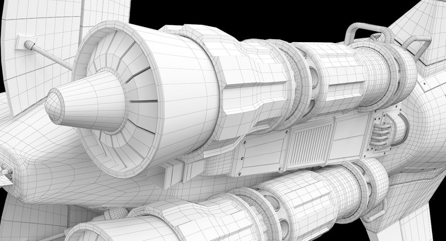 самолет royalty-free 3d model - Preview no. 44