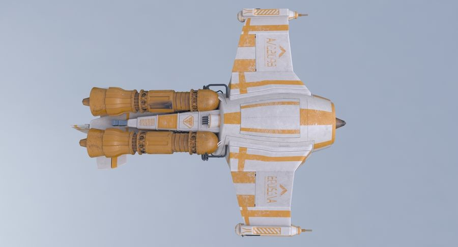 самолет royalty-free 3d model - Preview no. 16