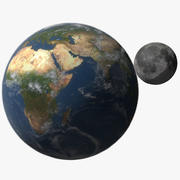 Earth with Moon 3d model