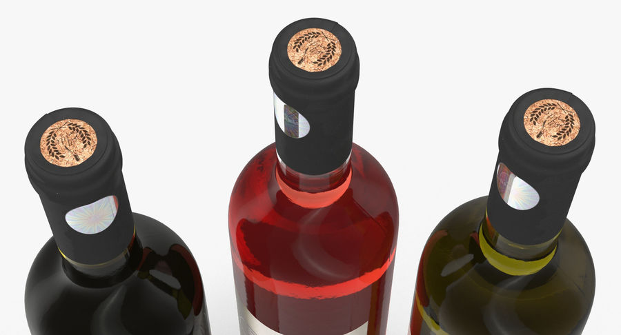 Wine Collection 2 royalty-free 3d model - Preview no. 8