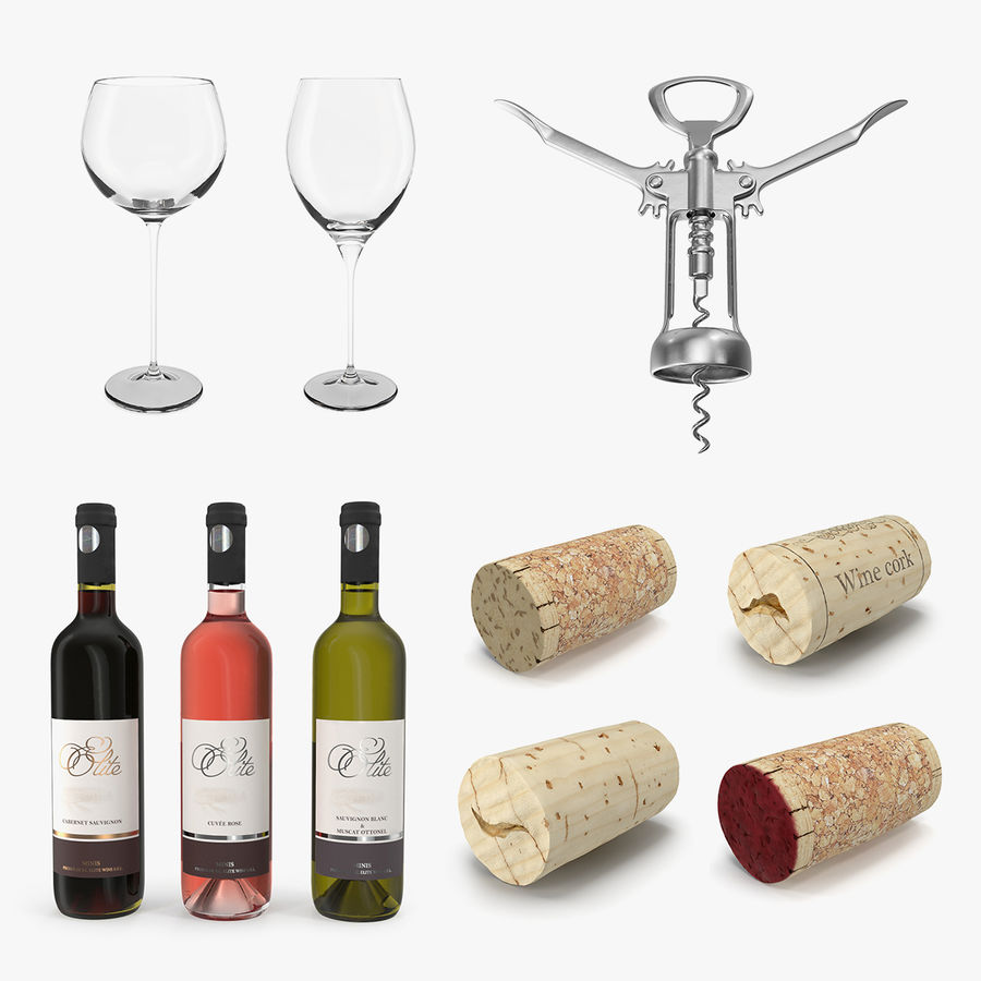 Wine Collection 2 royalty-free 3d model - Preview no. 1