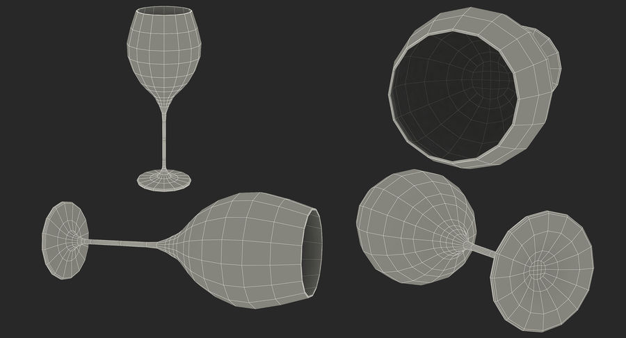 Wine Collection 2 royalty-free 3d model - Preview no. 41