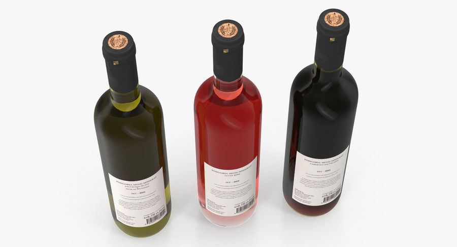 Wine Collection 2 royalty-free 3d model - Preview no. 5