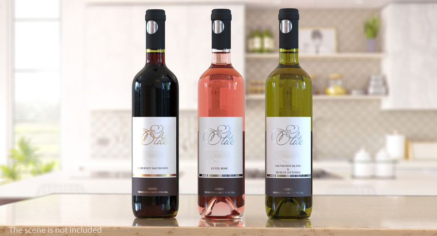 Wine Collection 2 royalty-free 3d model - Preview no. 4