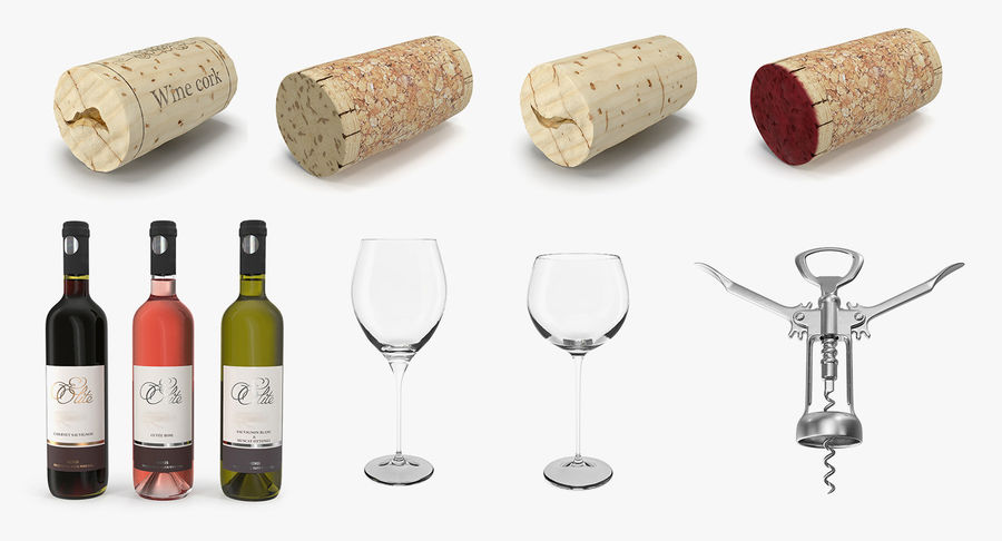 Wine Collection 2 royalty-free 3d model - Preview no. 2