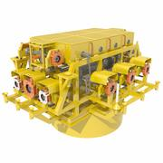 Subsea Cluster Manifold 3d model