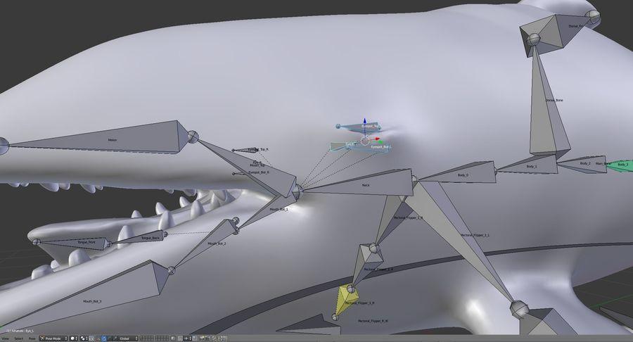 Orca Orca aparejada royalty-free modelo 3d - Preview no. 22