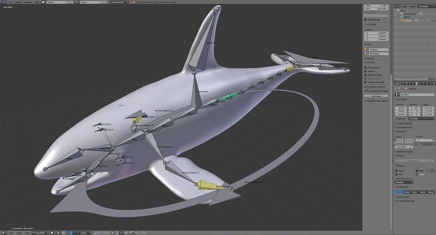 Orca Orca aparejada royalty-free modelo 3d - Preview no. 19