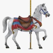Cheval de carrousel v2-03 3d model