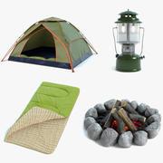 Set da campeggio 3d model