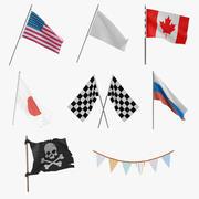 Flags 3D Models Collection 2 3d model