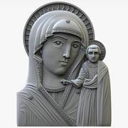 Tanrı'nın Annesi Chimeevskaya simgesi 3d model