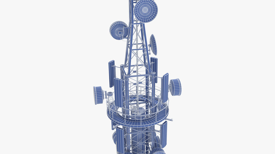 Radio Tower royalty-free 3d model - Preview no. 13