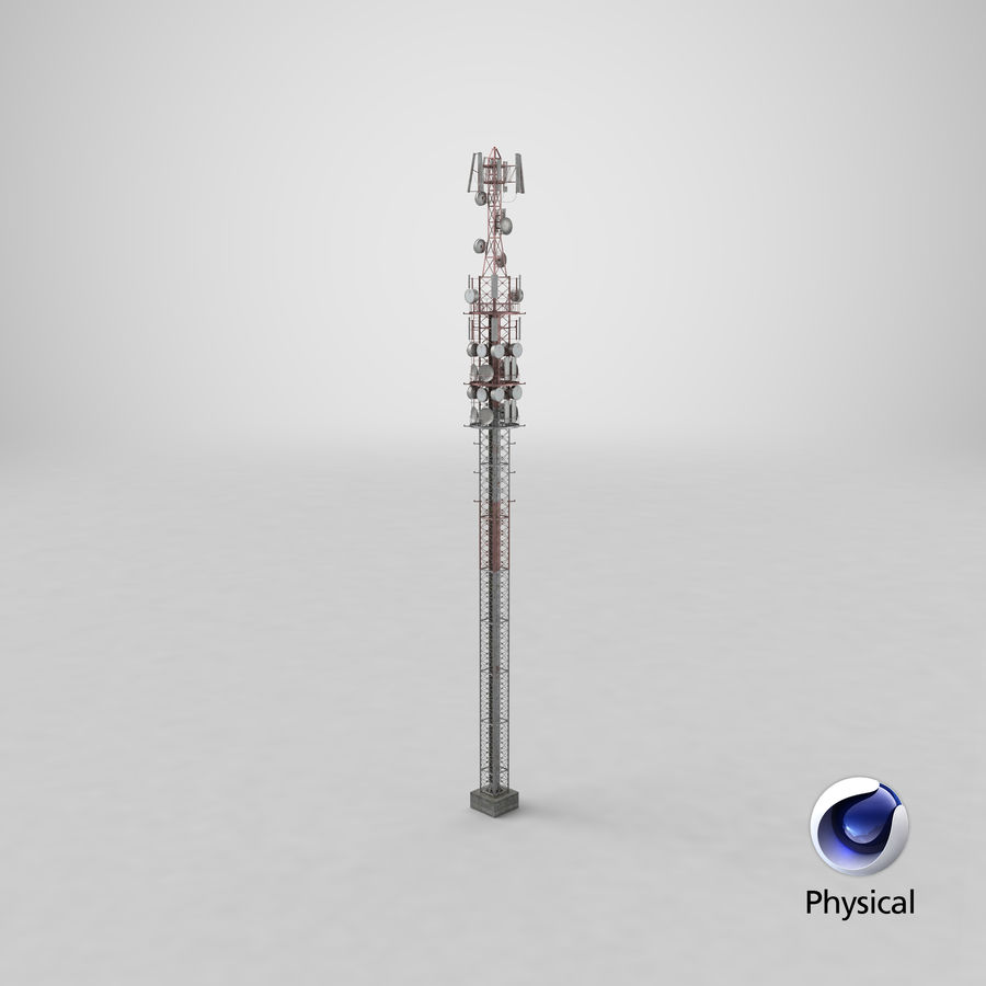 Radio Tower royalty-free 3d model - Preview no. 28