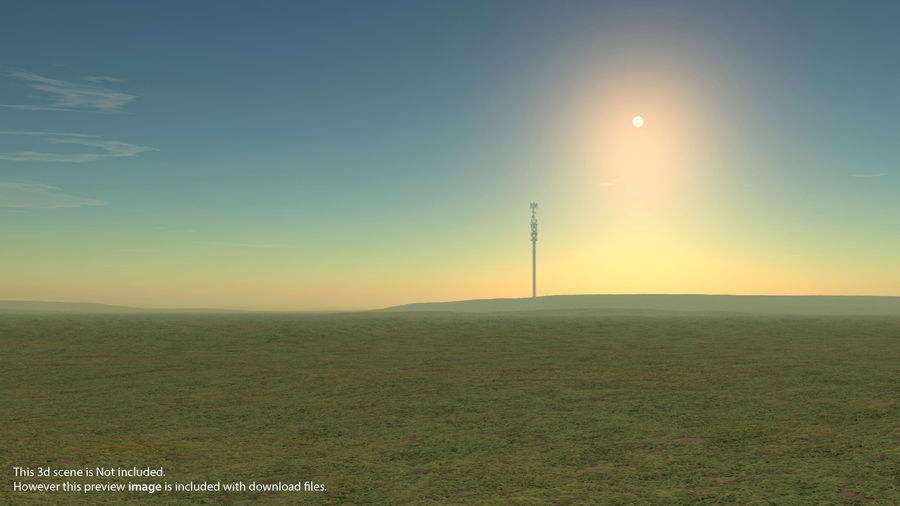 Radio Tower royalty-free 3d model - Preview no. 21