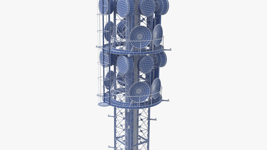 Radio Tower royalty-free 3d model - Preview no. 12