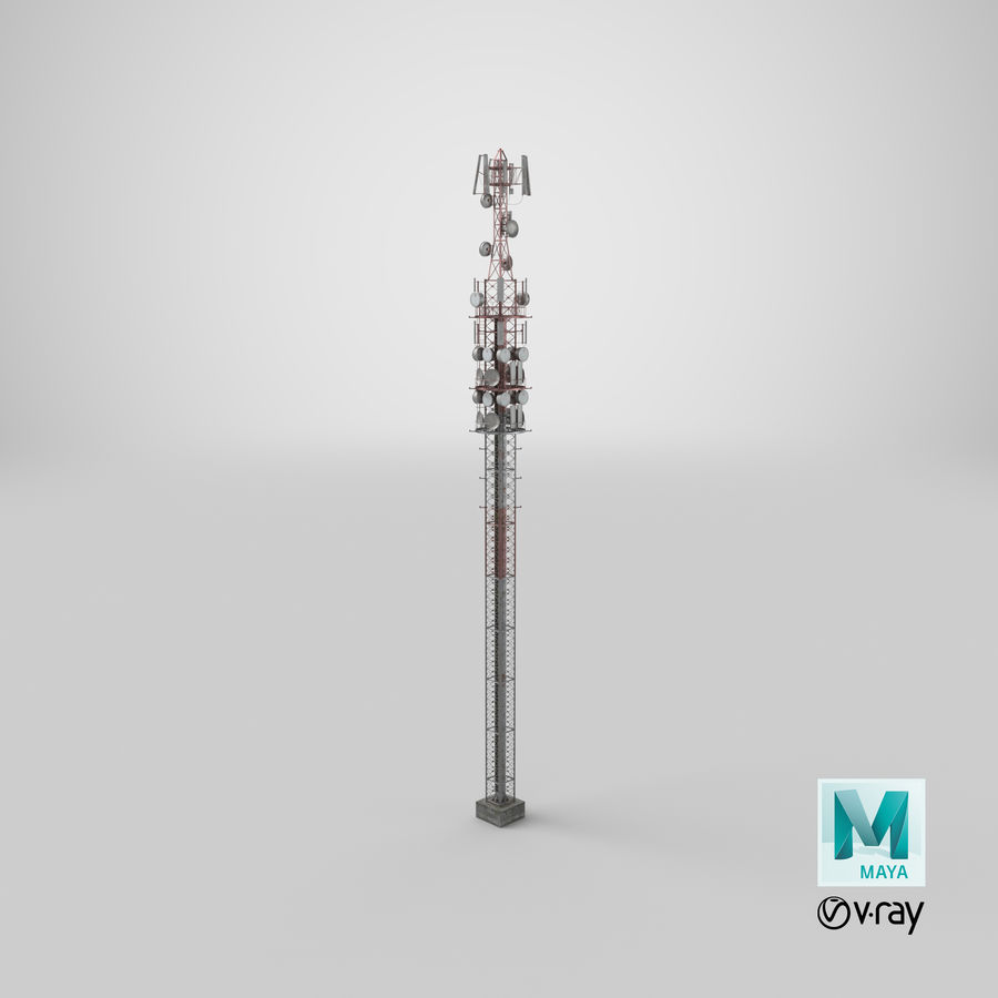 Radio Tower royalty-free 3d model - Preview no. 24
