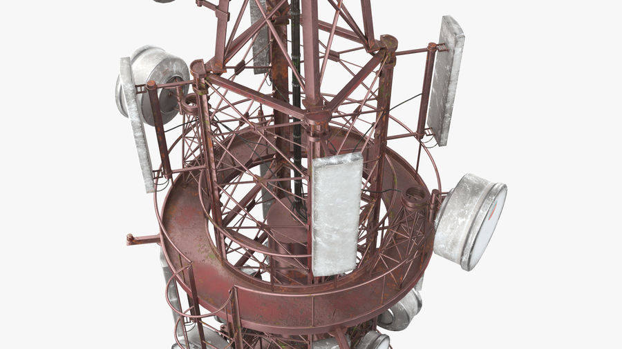 Radio Tower royalty-free 3d model - Preview no. 9