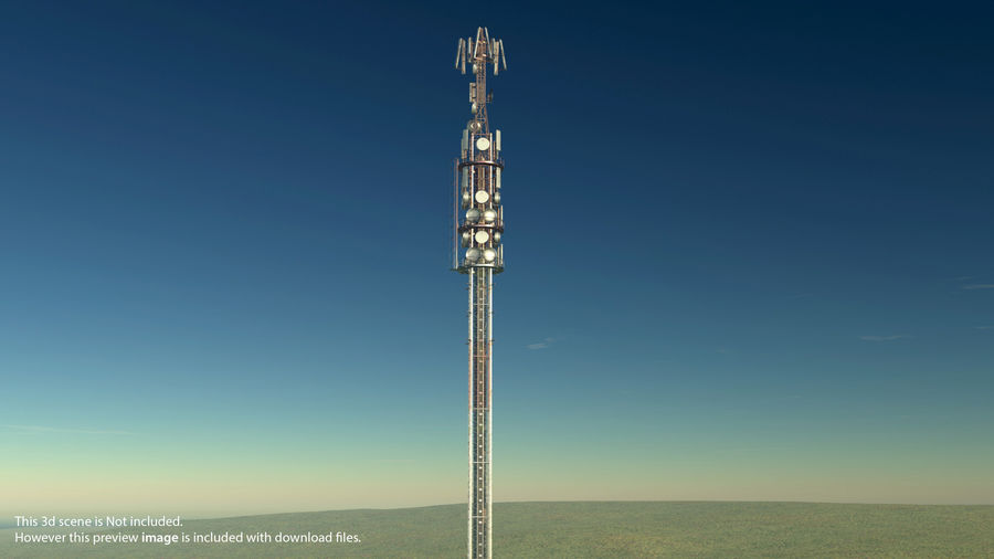Radio Tower royalty-free 3d model - Preview no. 20