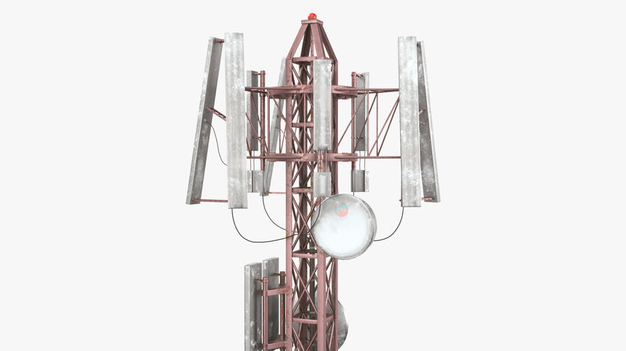 Radio Tower royalty-free 3d model - Preview no. 10