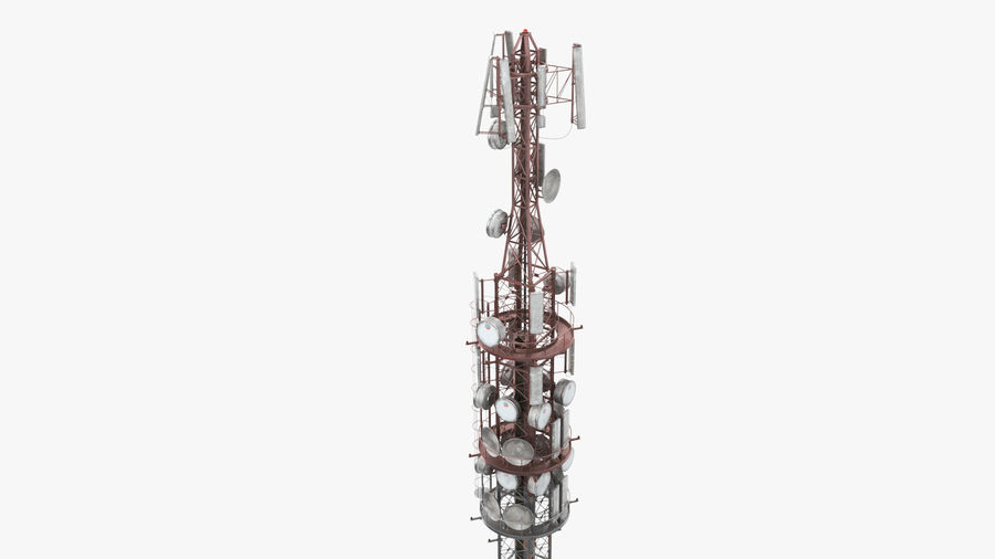 Radio Tower royalty-free 3d model - Preview no. 6