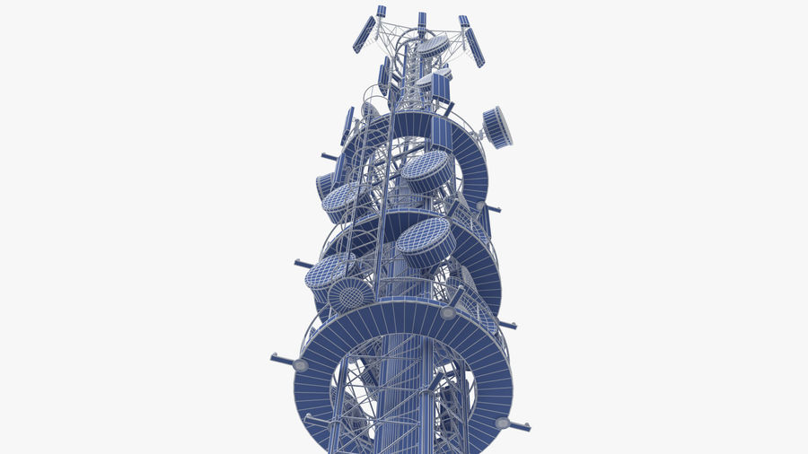 Radio Tower royalty-free 3d model - Preview no. 14