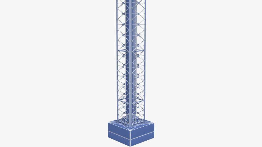 Radio Tower royalty-free 3d model - Preview no. 11