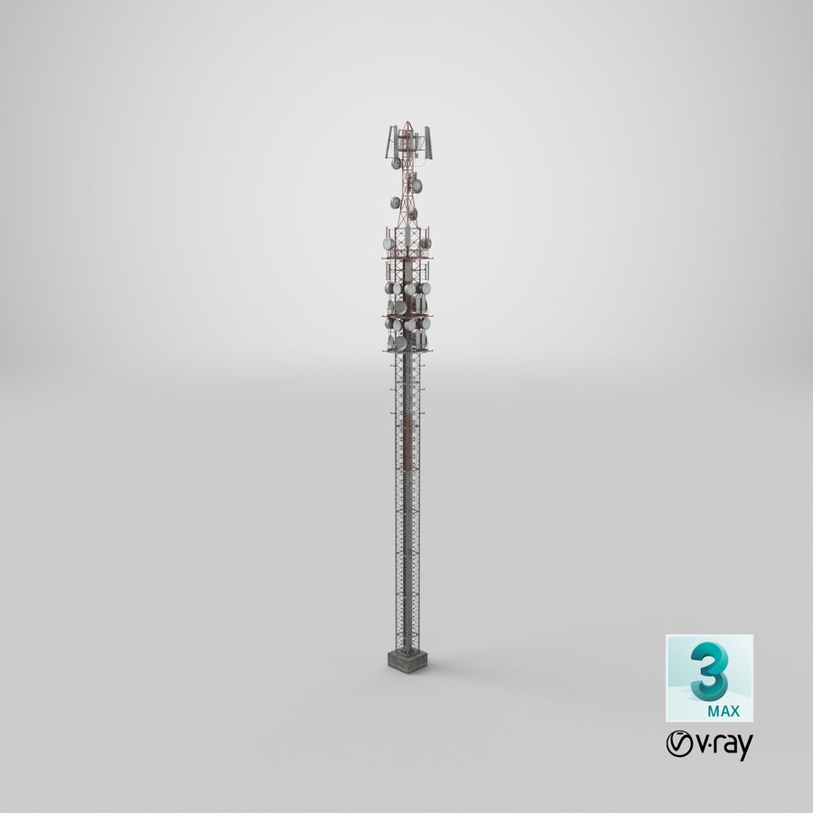 Radio Tower royalty-free 3d model - Preview no. 26