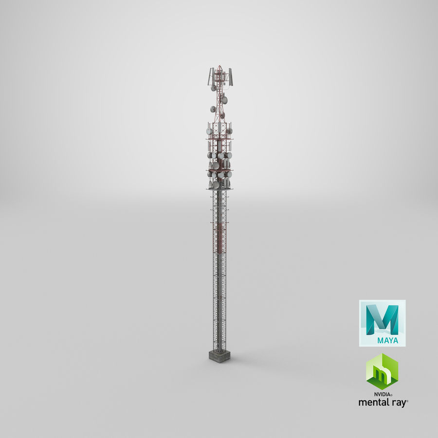 Radio Tower royalty-free 3d model - Preview no. 25