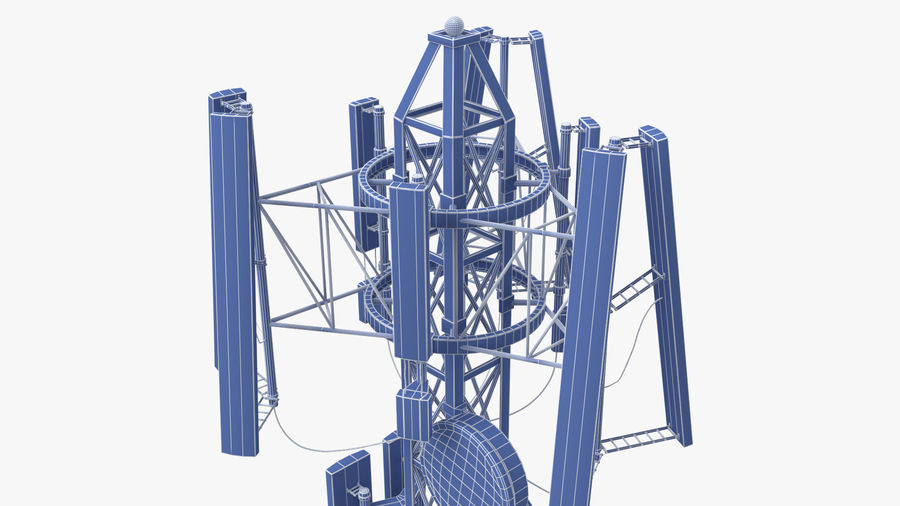 Radio Tower royalty-free 3d model - Preview no. 15