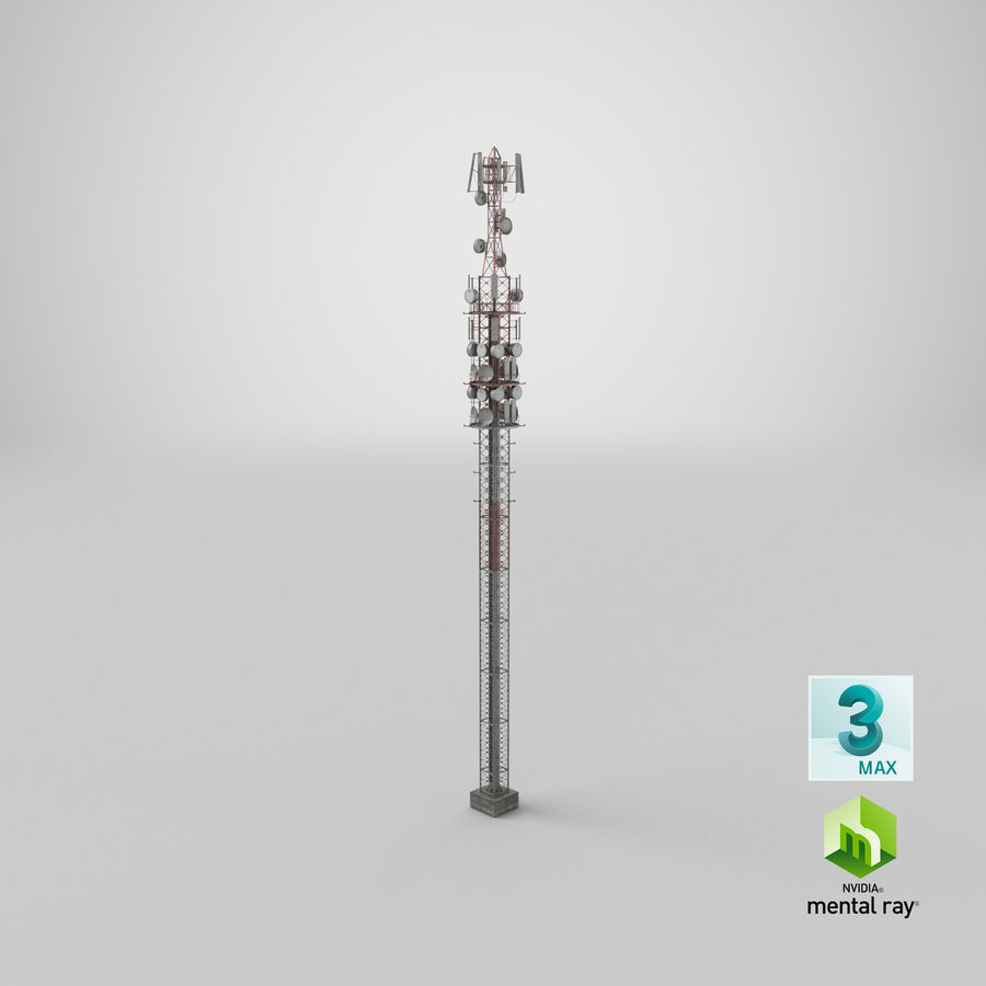 Radio Tower royalty-free 3d model - Preview no. 27