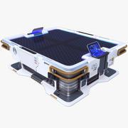 Mesa Táctica de Ciencia Ficción PBR modelo 3d