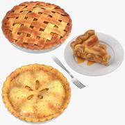 Collection de tarte aux pommes 3d model