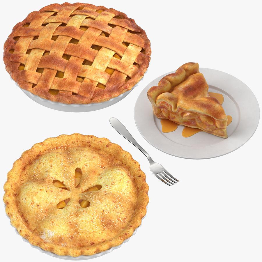 Яблочный пирог royalty-free 3d model - Preview no. 1