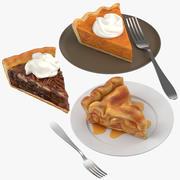 Коллекция кусочков пирога 3d model