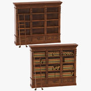 Classical Book Shelves Collection 3d model