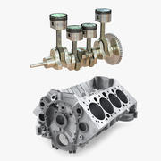 Engine Block and Piston 3D Models Collection 3d model