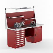 Arbetsbänk med utrustning 3d model