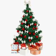 Beautiful Christmas Tree V4 3d model