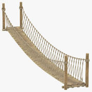 Rope Suspension Bridge 3d model