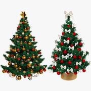 Schöne Weihnachtsbäume stellten V1 ein 3d model